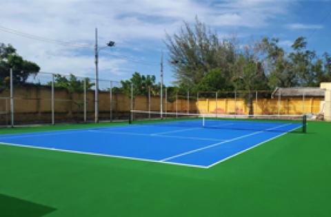 thi công sơn sân tennis nền bê tông xi măng ninh hải, ninh thuận2