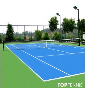 sơn cao su sân tennis 9 lớp decoturf us trên nền bê tông.