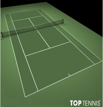 sơn sân tennis 5 lớp có lớp cao su decoturf us open