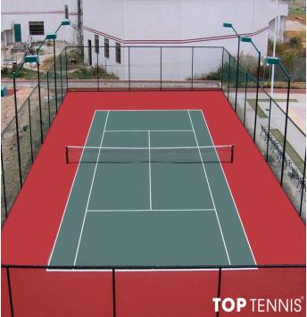 sơn sân tennis 6 lớp có cao su pu trên nền xi măng