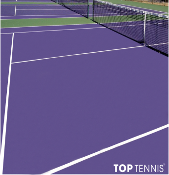 sơn cao su sân tennis 7 lớp us decoturf trên nền nhựa.