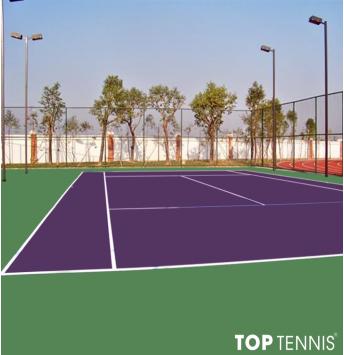 sơn sân tennis 2 lớp có lớp cao su pu decoturf us open1