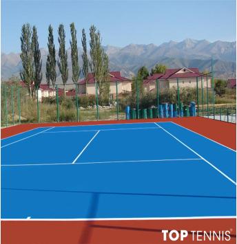 sơn sân tennis 4 lớp có lớp cao su pu decoturf us open