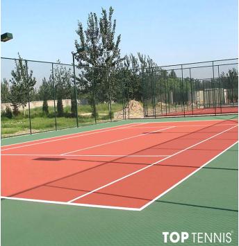 sơn sân tennis 7 lớp có cao su pu trên nền xi măng