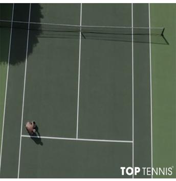 sơn lại mặt sân tennis