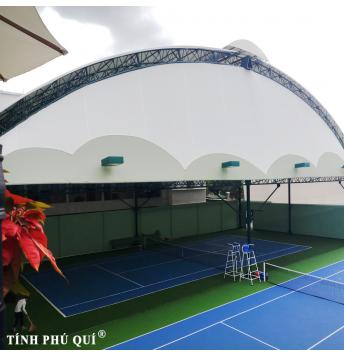 mái che sân tennis giá sân thể thao