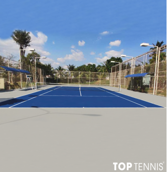sơn 7 lớp sân tennis sau sữa chữa