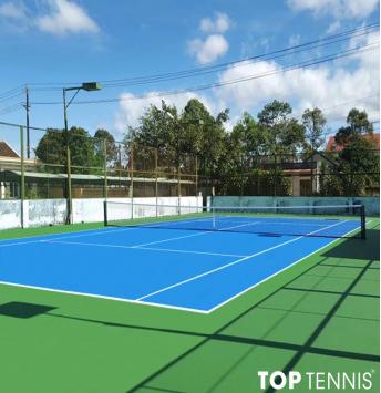 sơn sân tennis sau sữa chữa